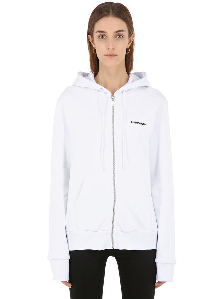 Luisaviaroma Zip-up Sweatshirt Hoodie in white