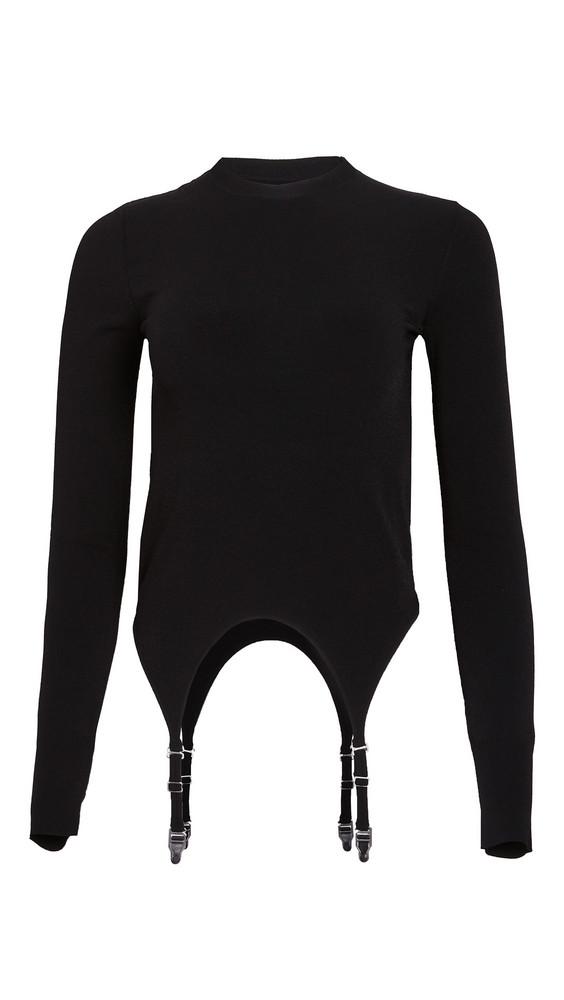 Dion Lee Garter Long Sleeve Top in black