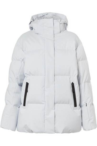 BOGNER FIREICE - Vera Hooded Quilted Down Ski Jacket - Light gray