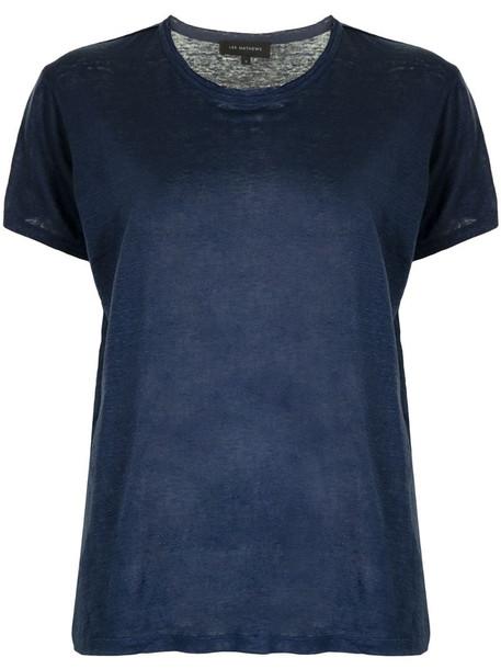 Lee Mathews Tilly linen T-shirt in blue