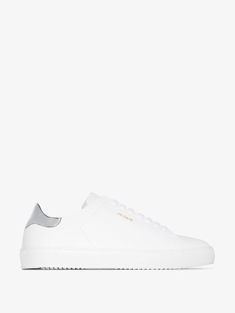 Axel Arigato white and silver Clean 90 leather sneakers