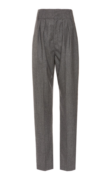 Isabel Marant Magli Wool Tapered Pants Size: 34 in black