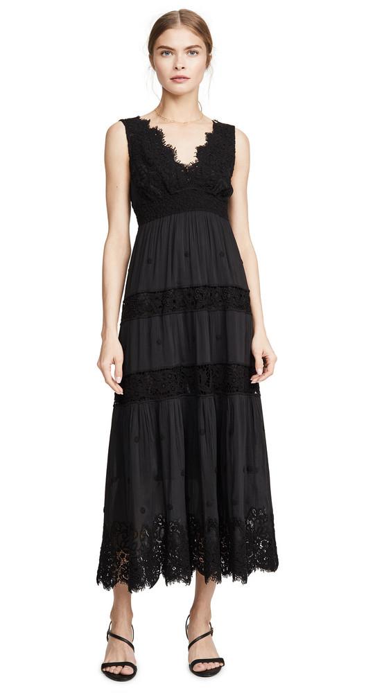 Temptation Positano Carrara Tea Length Dress in black