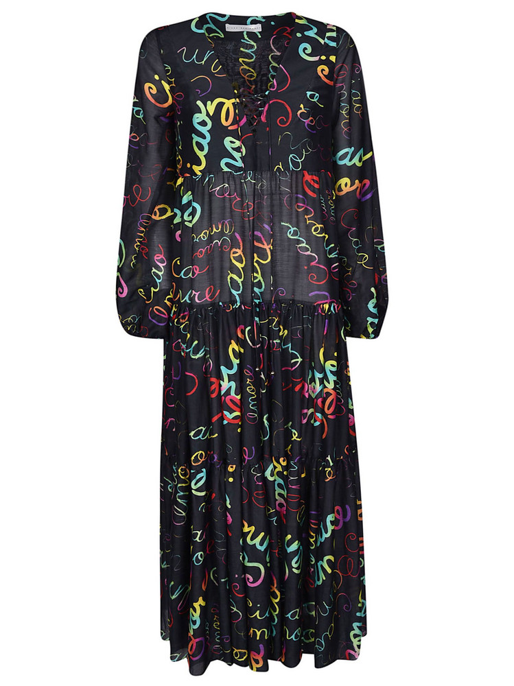 Giada Benincasa Printed Flared Dress in blue