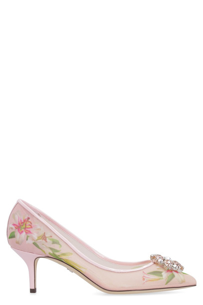 Dolce & Gabbana Mesh Pumps in pink