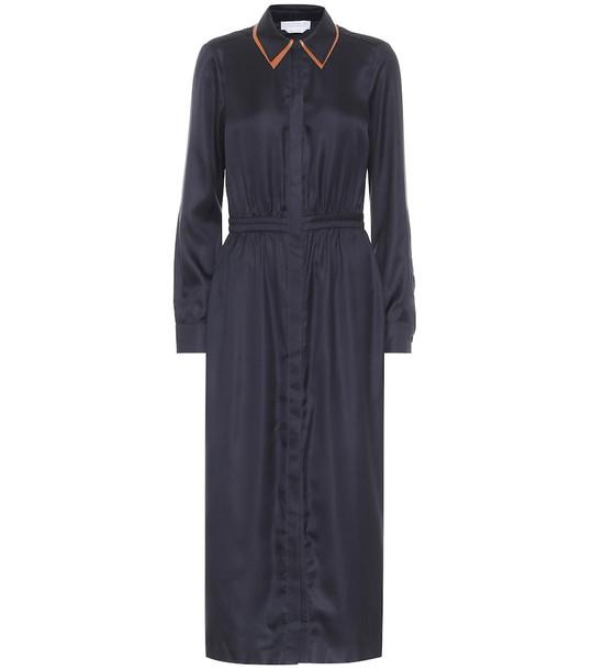 Gabriela Hearst Lowell silk-twill midi dress in blue