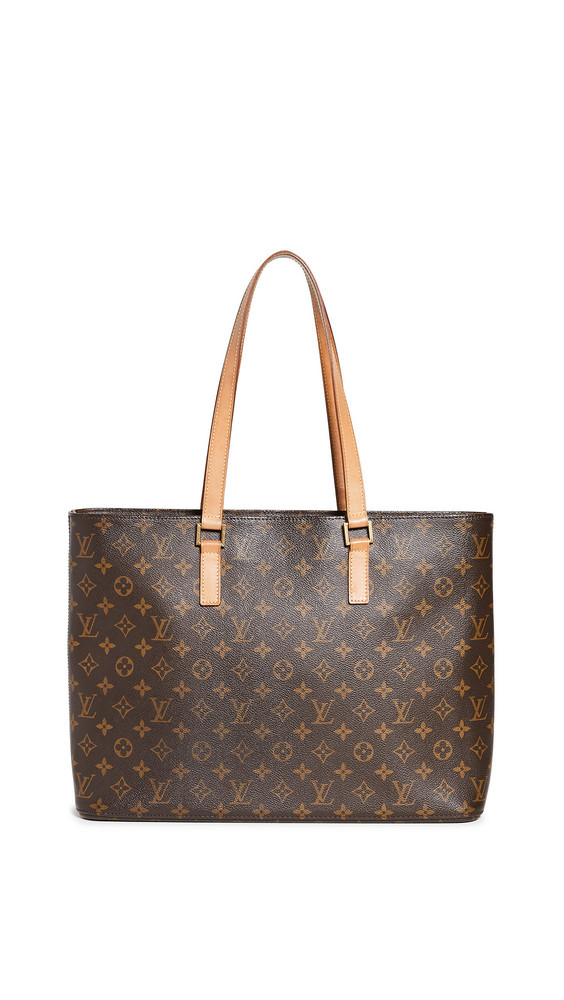 What Goes Around Comes Around Louis Vuitton Monogram Luco Bag in brown / multi