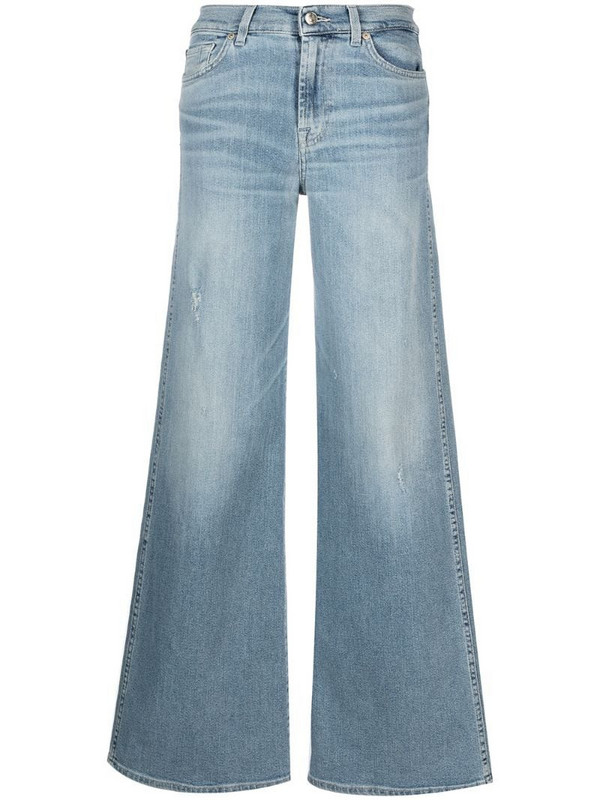 7 For All Mankind Lotta luxe-vintage flared jeans in blue