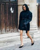shoes,mules,denim jacket,blazer,oversized,black turtleneck top