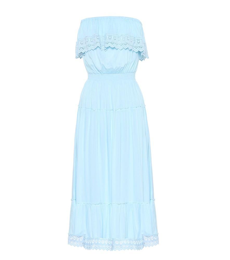 Melissa Odabash Clara lace-trimmed dress in blue