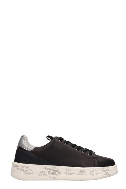 Premiata Black Leather Belle Sneakers