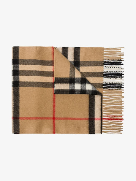 Burberry brown check cashmere scarf