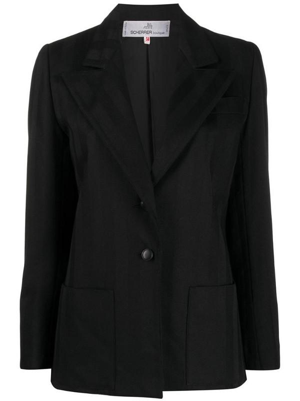 Jean Louis Scherrer Pre-Owned 1970s striped blazer in black