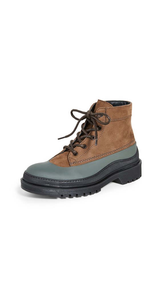 WANT Les Essentiels Luton Mid Work Boots in black / multi