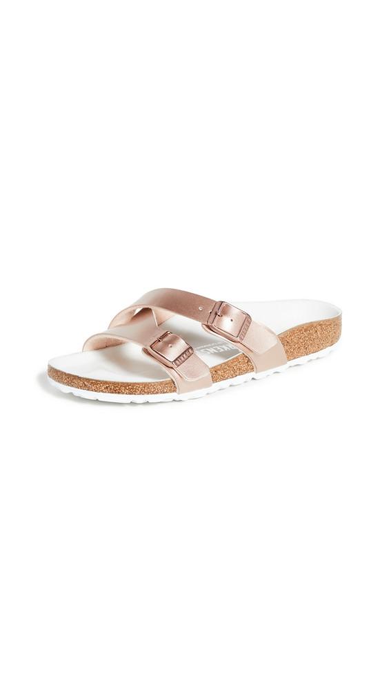 Birkenstock Yao Hex Sandals in copper