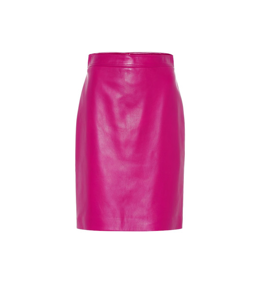 Gucci Leather pencil skirt in pink