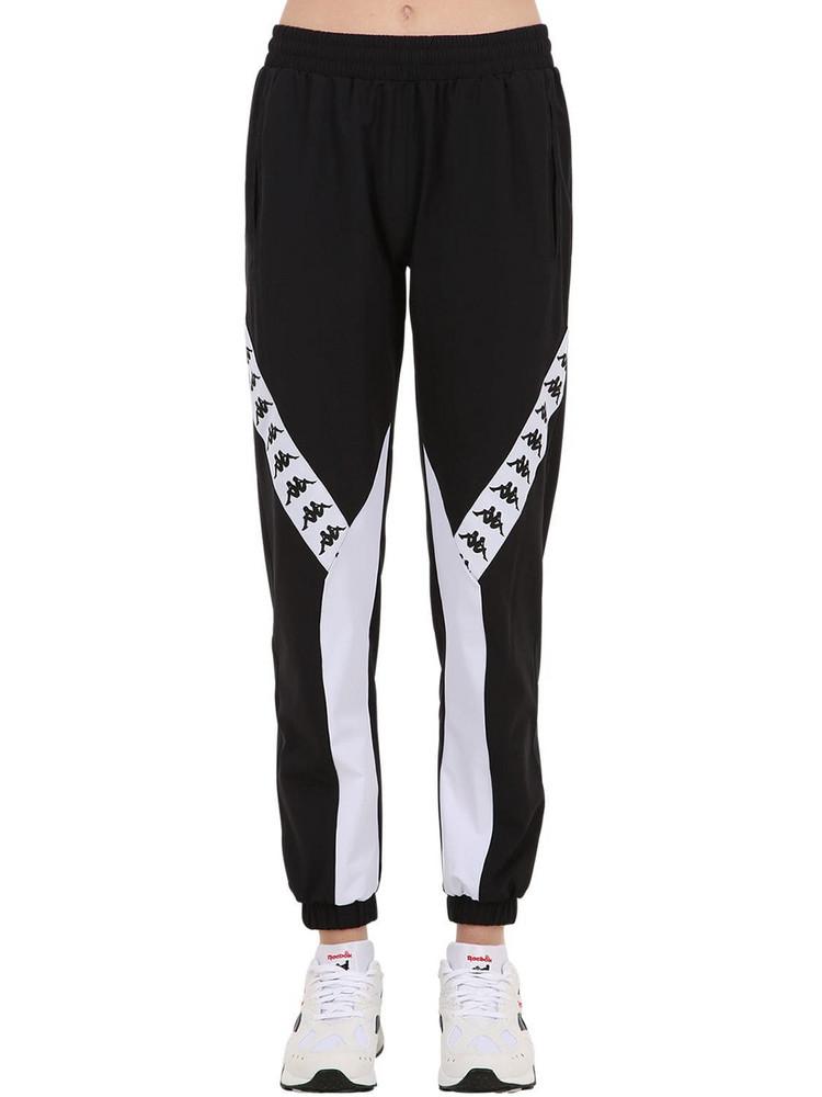 KAPPA Banda Banskey Logo Nylon Pants in black