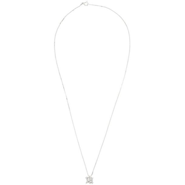 MISBHV Silver M Pendant Necklace