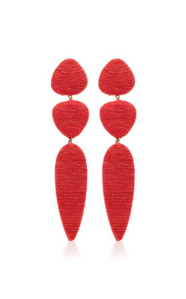Rebecca de Ravenel Jacaranda Earrings in red