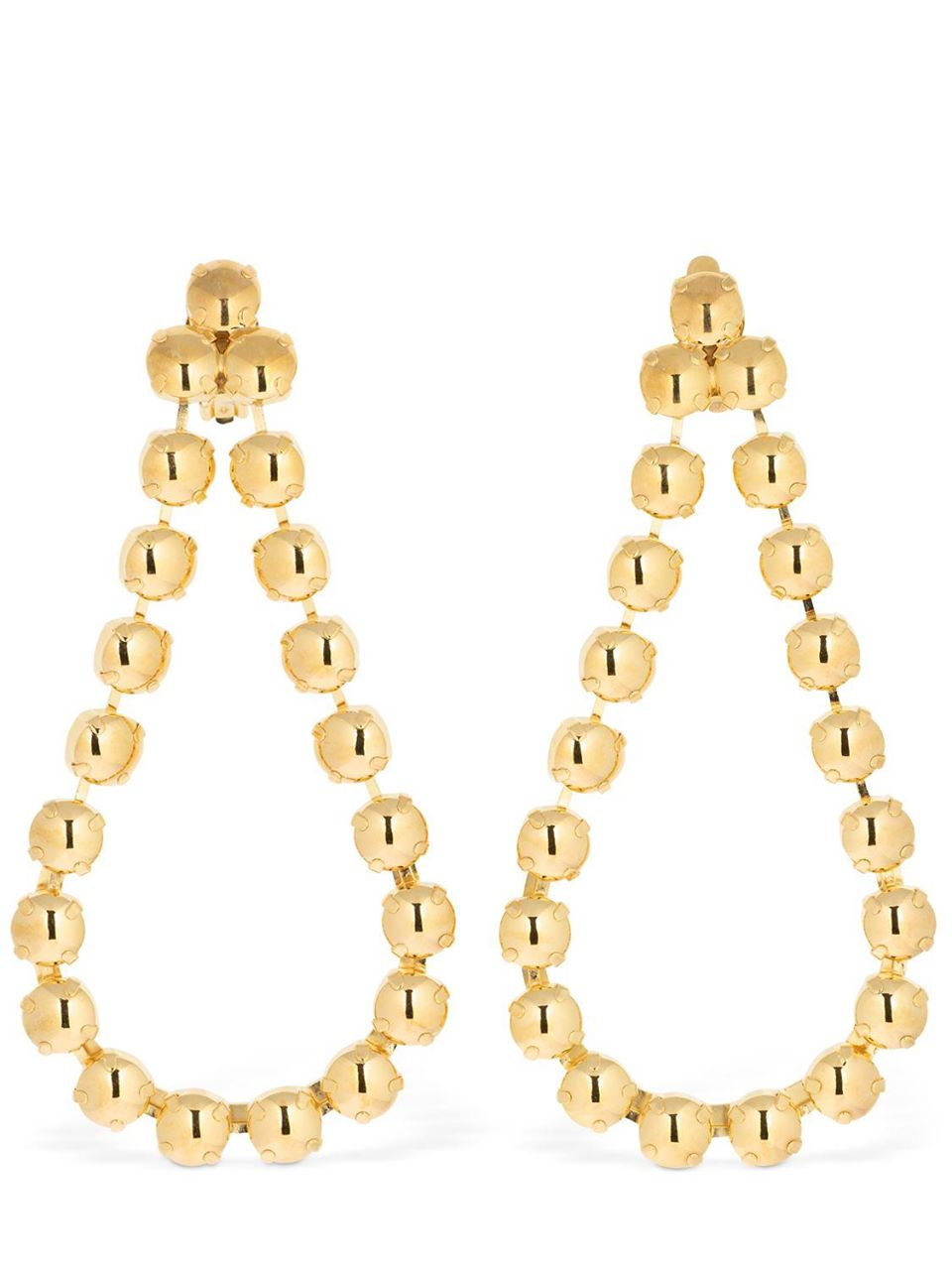 CA&LOU Victoria Clip-on Drop Earrings Gold