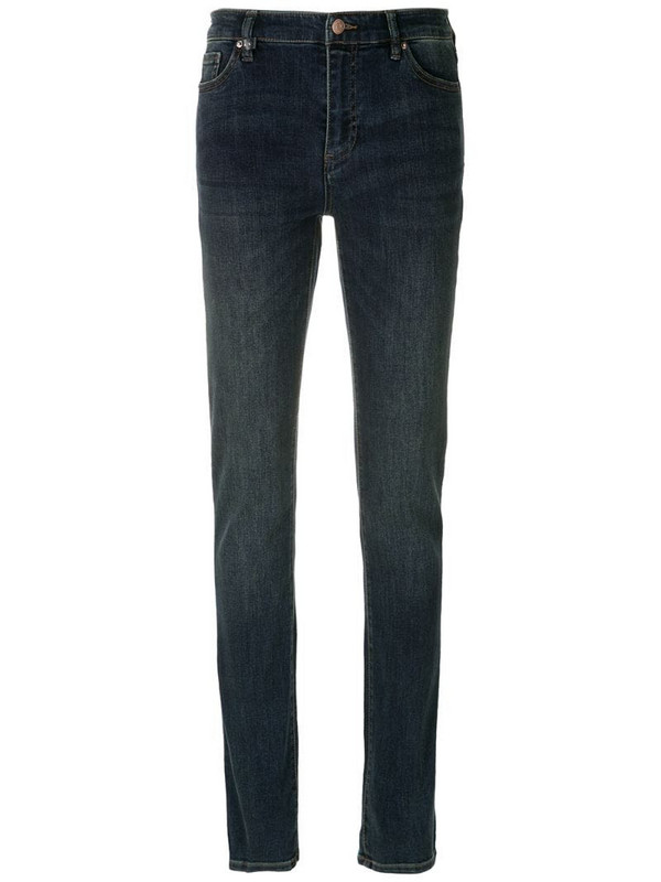 Armani Exchange mid rise skinny jeans in blue