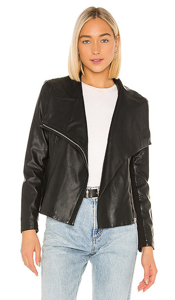 BB Dakota Up To Speed Vegan Leather Jacket in Black