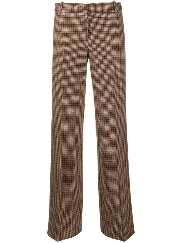 Drumohr check straight-leg trousers in neutrals