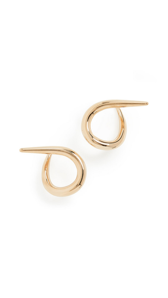 Charlotte Chesnais Punk Hoop Earrings in yellow