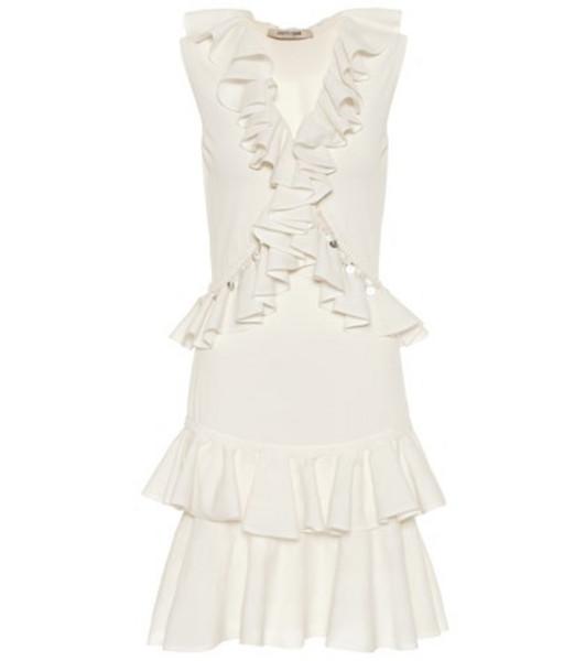 Roberto Cavalli Cotton-blend minidress in white