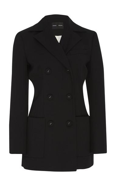 Proenza Schouler Double-Breasted Wool Blazer in black