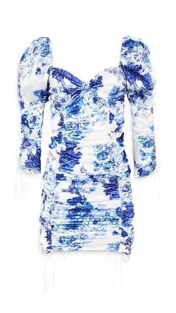 For Love & Lemons Hyacinth Drawstring Mini Dress in navy