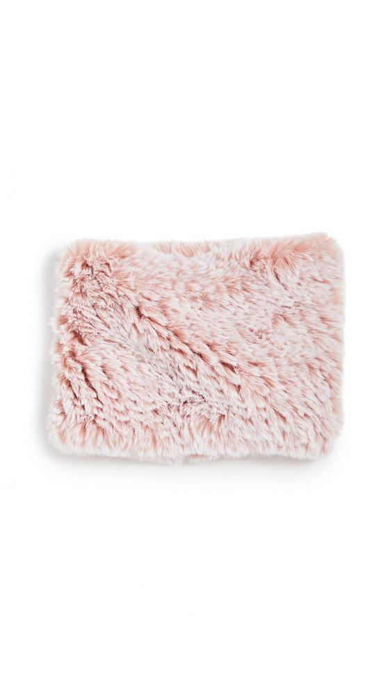 Jocelyn Snowtop Knitted Faux Fur Stretch Cowl Scarf in blush