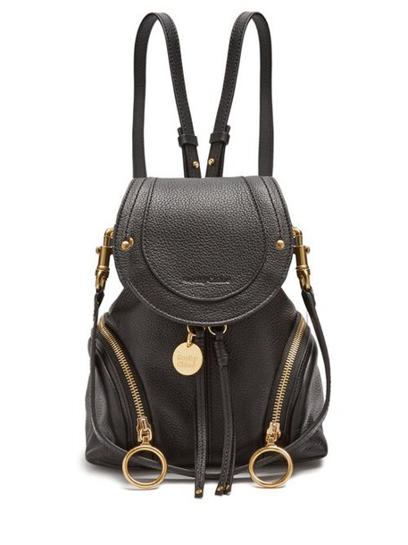 See By Chloé See By Chloé - Olga Grained Leather Backpack - Womens - Black