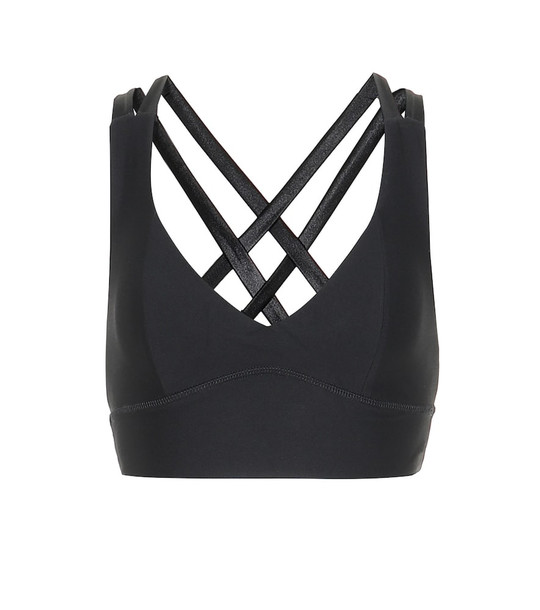 Lanston Sport Max X Back sports bra in black