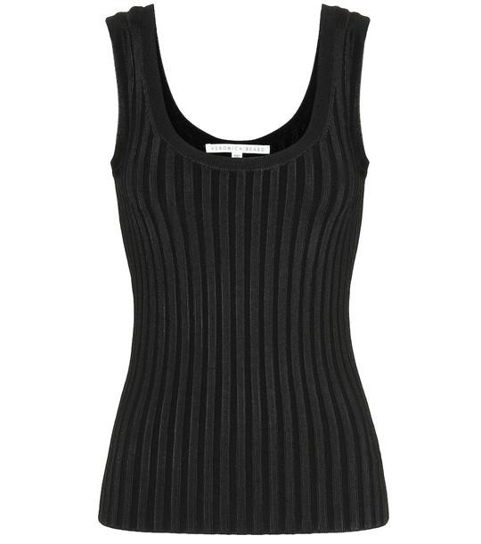 Veronica Beard Sandra ribbed-knit tank top in black