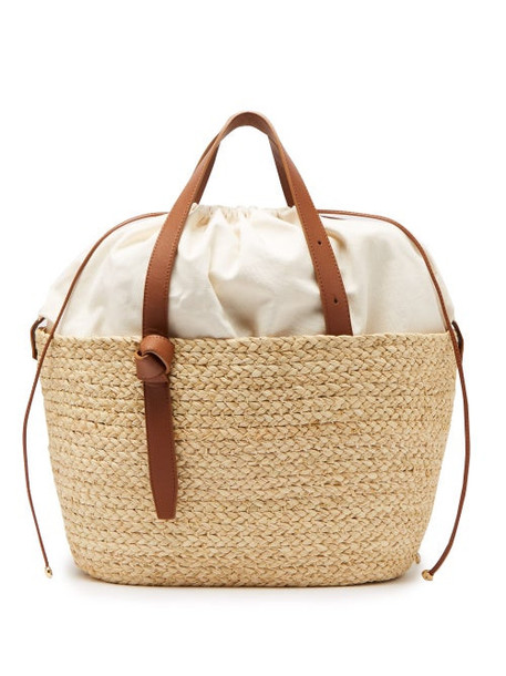 Cesta Collective - Large Woven Sisal Basket Tote - Womens - Beige