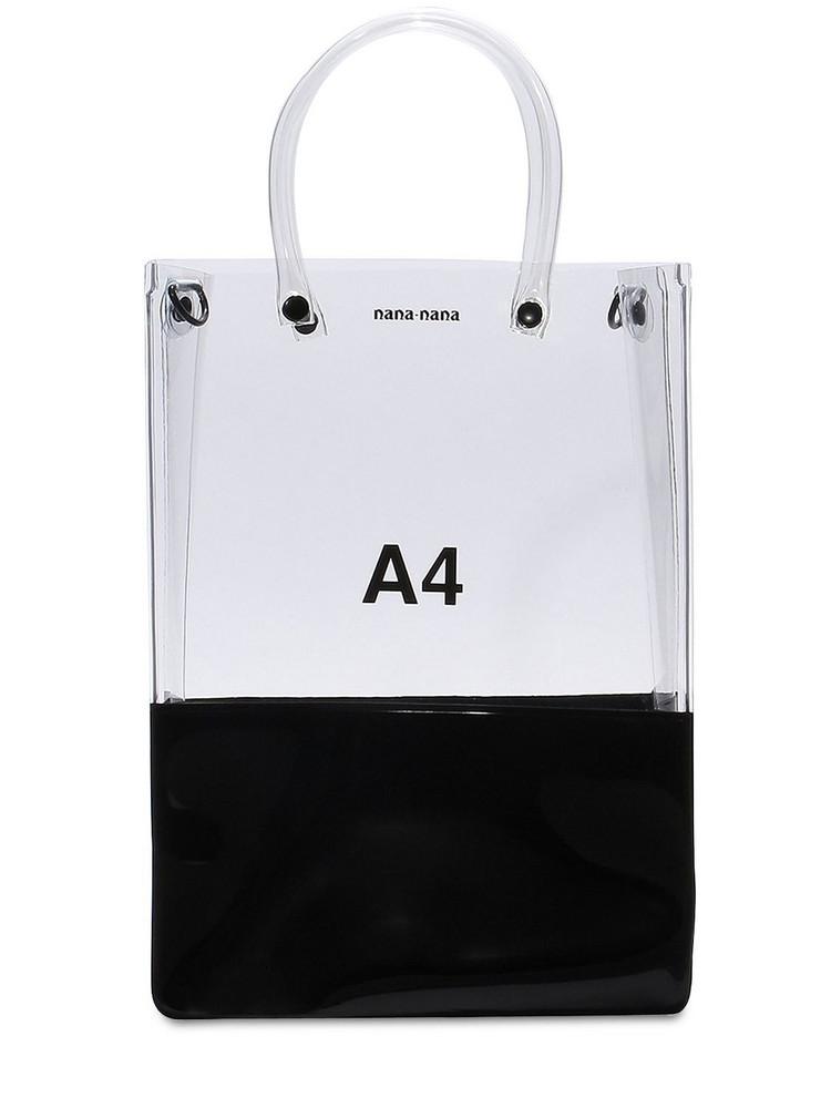 NANA NANA A4 Pvc Shopping Bag in black / transparent