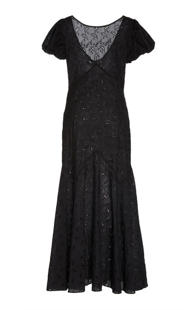 Sir The Label Elodie Broderie Anglaise Cotton And Silk-Blend Dress Siz