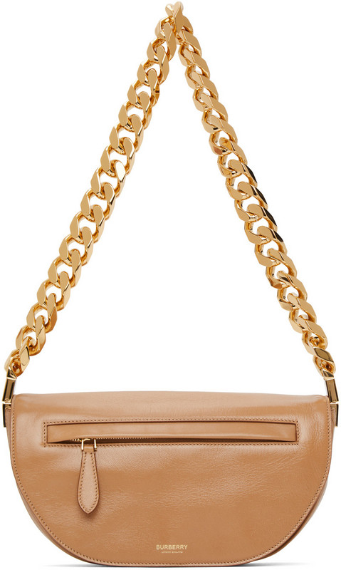 Burberry Tan Small Olympia Chain Bag in camel
