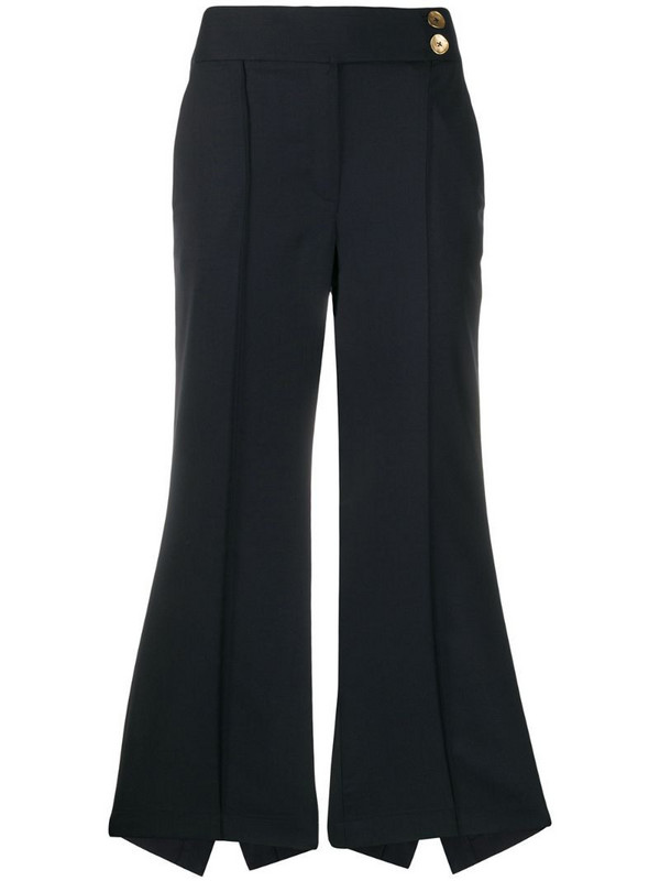 Eudon Choi Postell asymmetric trousers in blue