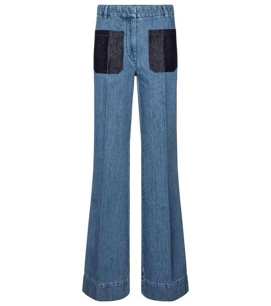 Victoria Beckham High-rise flared jeans in blue