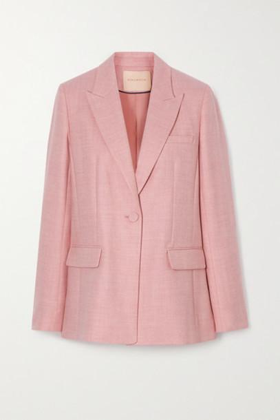Roksanda - Antalya Wool-blend Twill Blazer - Pastel pink