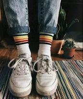 socks,stripes,retro,vintage,grunge,90s style,80s style