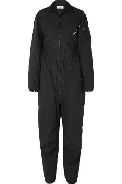 AMBUSH® AMBUSH® - Convertible Embroidered Cotton-canvas Jumpsuit - Black