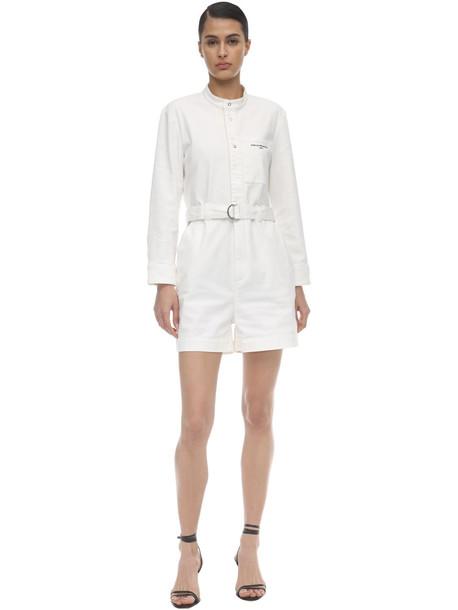 STELLA MCCARTNEY Distressed Cotton Romper in white