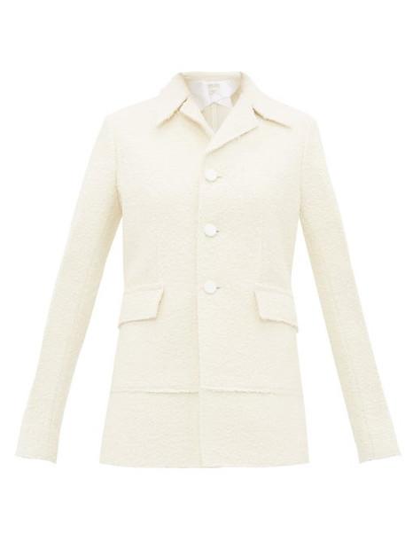 Bottega Veneta - Single Breasted Bouclé Jacket - Womens - Ivory