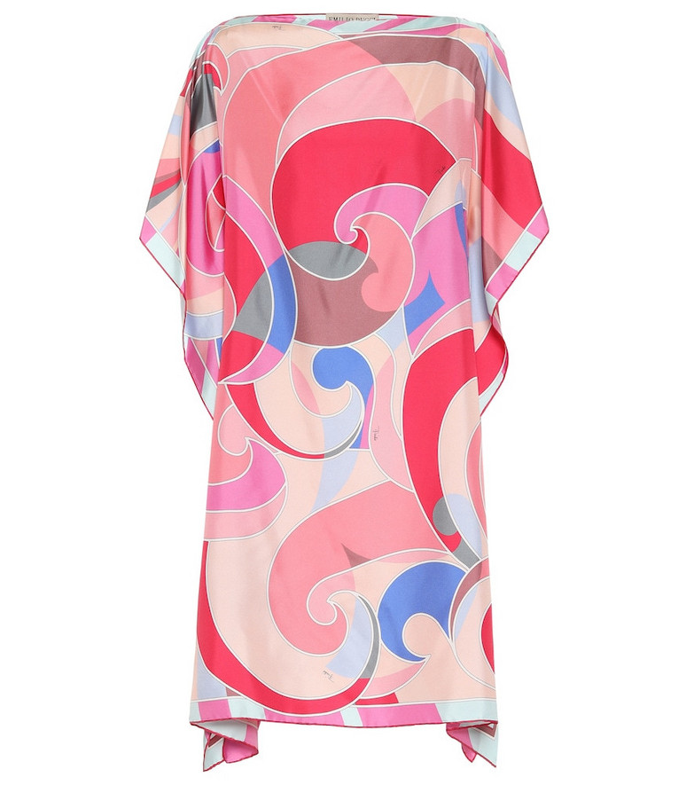 Emilio Pucci Beach Printed silk kaftan in pink