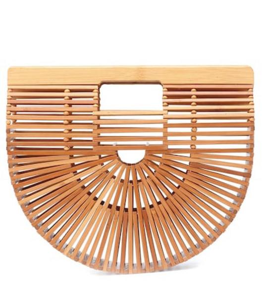Cult Gaia Ark Small bamboo clutch in neutrals