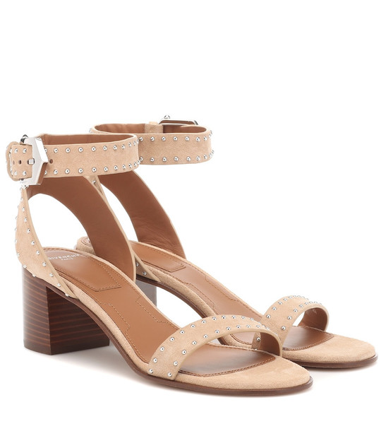 Givenchy Elegant 60 studded suede sandals in pink