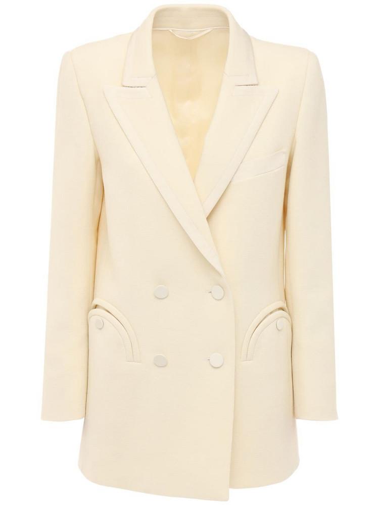 BLAZÉ MILANO Resolute Everyday Wool Blazer in cream